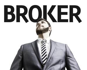 Business man with the text Broker in a concept image