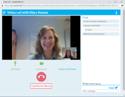 Screen Shot from CoreHealth's Video Chat